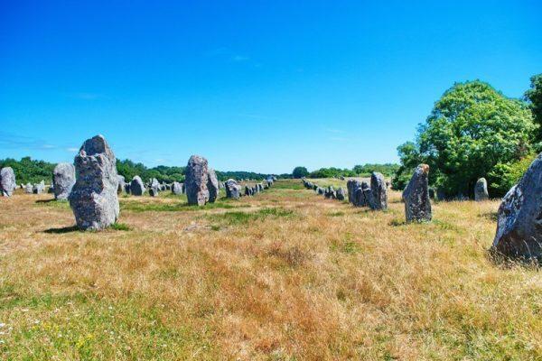 Die Steinfelder von Carnac Originalbild