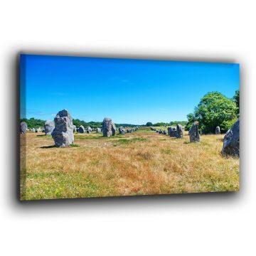 Die Steinfelder von Carnac Leinwand
