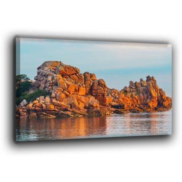 Steilwand an der Rosa Granitküste Leinwand